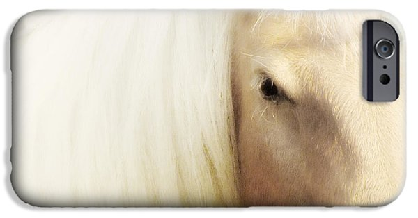 Art Of Horses iPhone Cases - Blondie iPhone Case by Amy Tyler