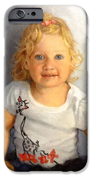 Child Sculptures iPhone Cases - Blondie iPhone Case by Janet McGrath
