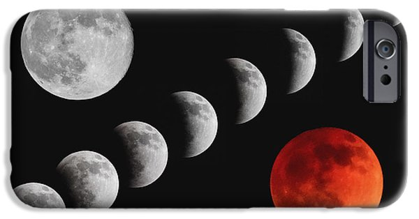 Stellar iPhone Cases - Blood Moon of the Tetrad iPhone Case by Rick Furmanek