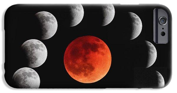 Stellar iPhone Cases - Blood Moon iPhone Case by Rick Furmanek