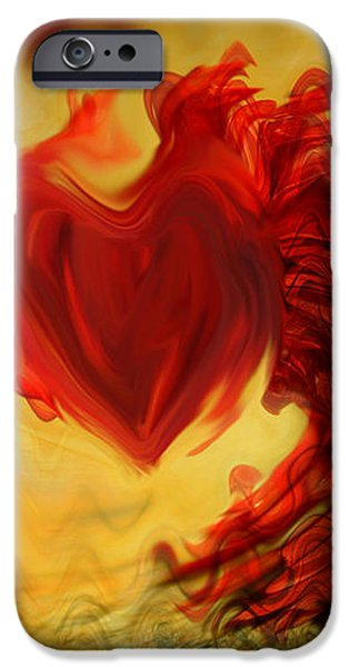 Blood Red Heart iPhone Case by Linda Sannuti
