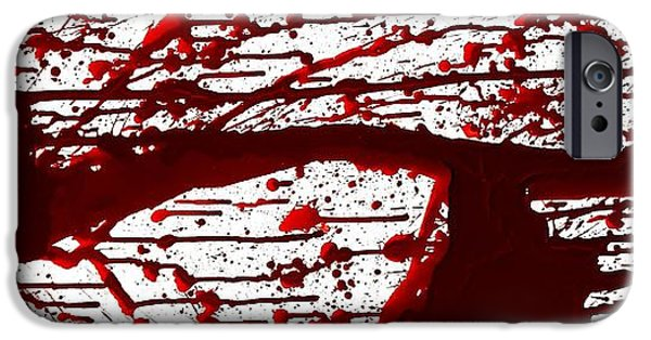 Creepy iPhone Cases - Blood Spatter Series iPhone Case by Holly Anderson