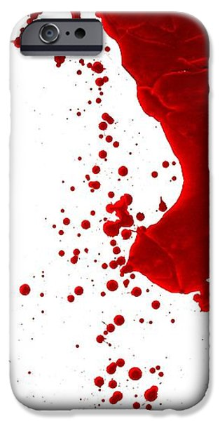 Creepy iPhone Cases - Blood Splatter  iPhone Case by Holly Anderson