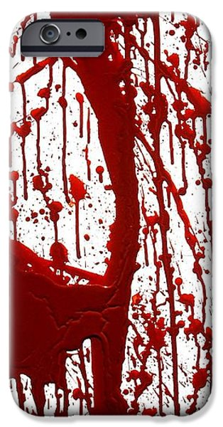 Best Sellers -  - Creepy iPhone Cases - Blood Splatter II iPhone Case by Holly Anderson