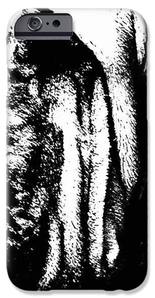 Bloodhound - It's Black And White - By Sharon Cummings iPhone Case by Sharon Cummings