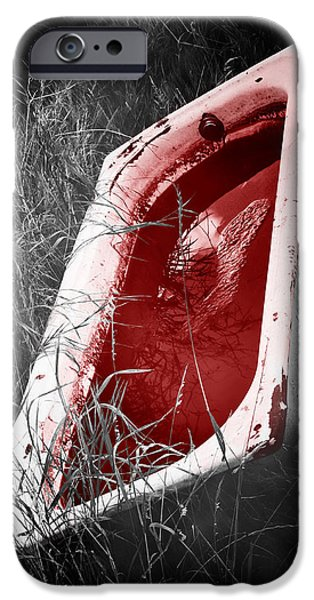 Drama iPhone Cases - Bloody Bathtub iPhone Case by Wim Lanclus