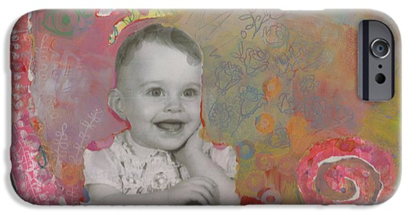 Self Portraits iPhone Cases - Bloom iPhone Case by Kimberly Santini
