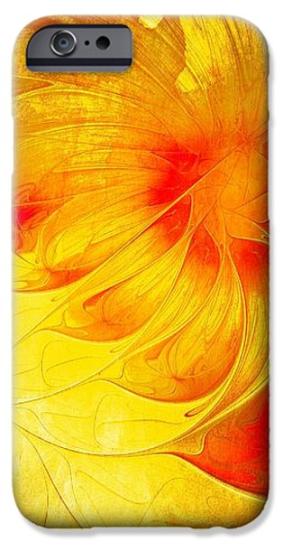 Abstract Digital Art iPhone Cases - Blooming Spring iPhone Case by Amanda Moore
