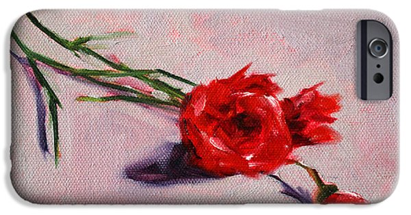 Business Paintings iPhone Cases - Blooms iPhone Case by Nancy Merkle