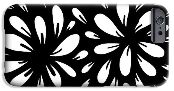 Playful Digital iPhone Cases - Blossom iPhone Case by HD Connelly