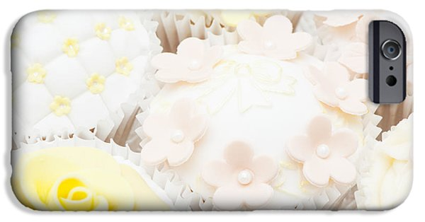 Covering Up iPhone Cases - Blossoms and Bows Cupcake iPhone Case by Anne Gilbert