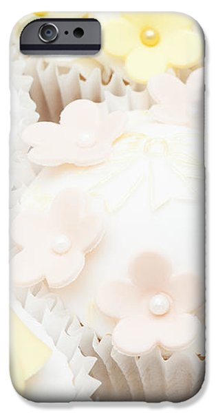 Blossoms and Bows Cupcake iPhone Case by Anne Gilbert