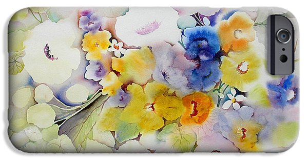 Still Life iPhone Cases - Blossoms II iPhone Case by Neela Pushparaj