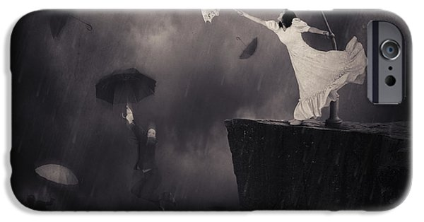 Abstracts iPhone Cases - Blowin In The Wind iPhone Case by Erik Brede