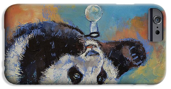 Michael iPhone Cases - Blowing Bubbles iPhone Case by Michael Creese