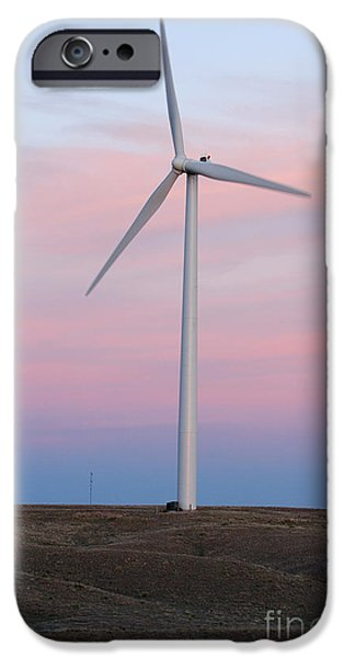 Nebraska iPhone Cases - Blowing in the Wind iPhone Case by Jerry McElroy
