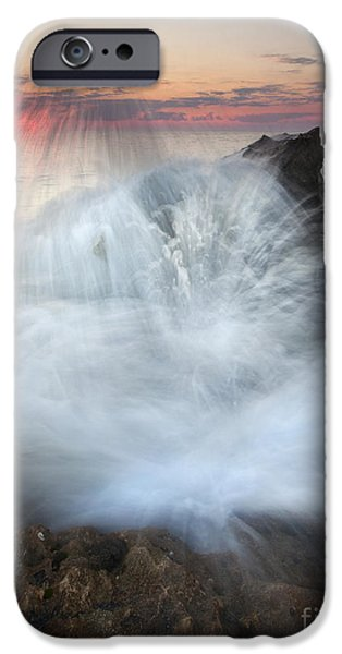 Blowing Rocks Sunrise Explosion iPhone Case by Mike  Dawson
