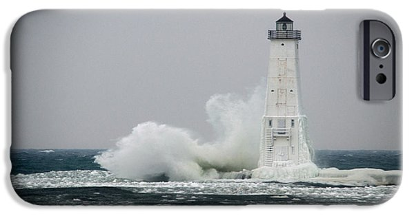 Lighthouse iPhone Cases - Blowing Wind iPhone Case by Linda Kerkau