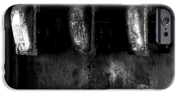 Electrical iPhone Cases - Blown Fuses - BW iPhone Case by James Aiken