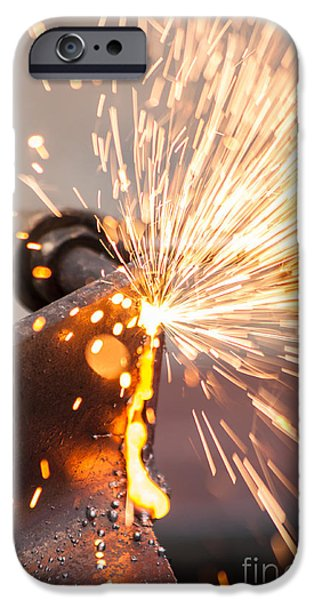 Work Tool iPhone Cases - Blowtorch On Construction Site iPhone Case by Fototrav Print