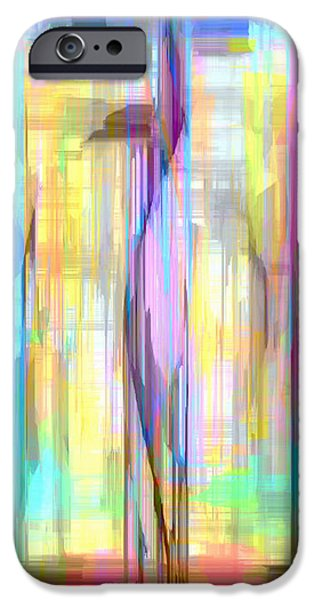 Shower Curtain iPhone Cases - Blue Abstract 2 iPhone Case by Rafael Salazar