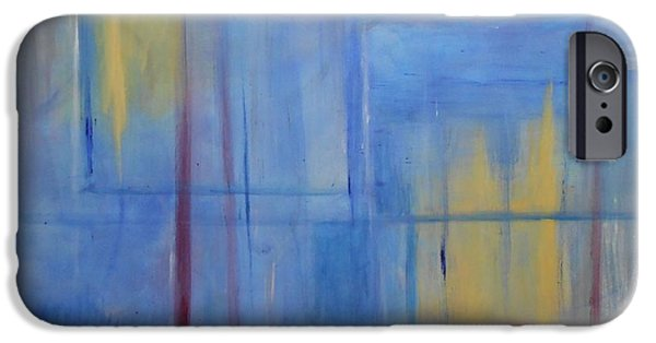 Free Form Paintings iPhone Cases - Blue Abstract iPhone Case by Jamie Frier