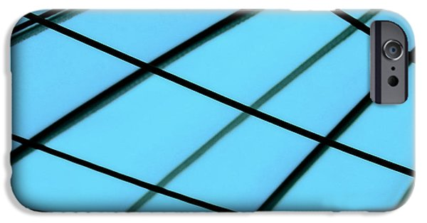Contemporary Abstract iPhone Cases - Blue Abstract iPhone Case by Tony Grider