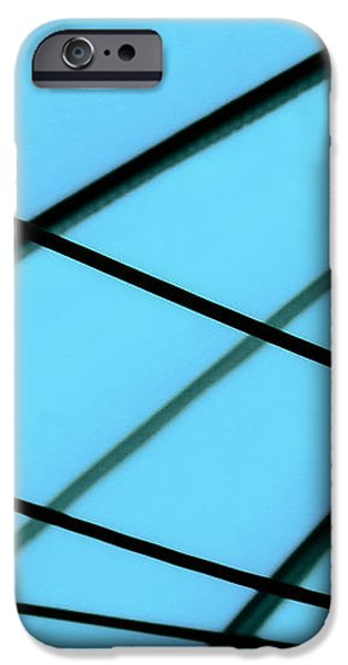 Blue Abstract iPhone Case by TONY GRIDER