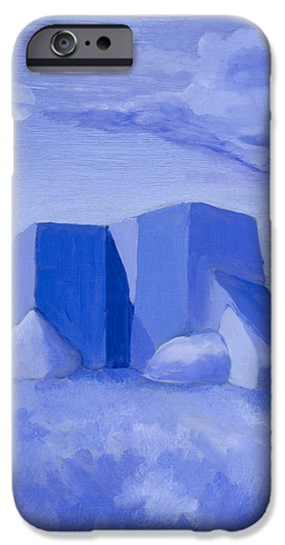 Blue Adobe iPhone Case by Jerry McElroy