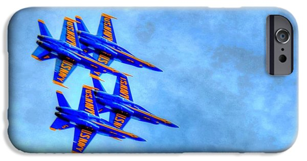 Angel Blues iPhone Cases - Blue Angel 2 iPhone Case by Debbi Granruth