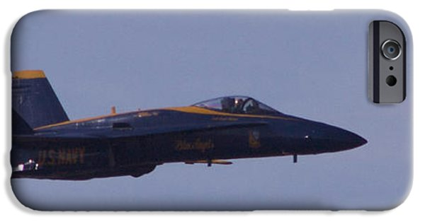 Angel Blues iPhone Cases - Blue Angels 04 iPhone Case by Trevor Daughtry
