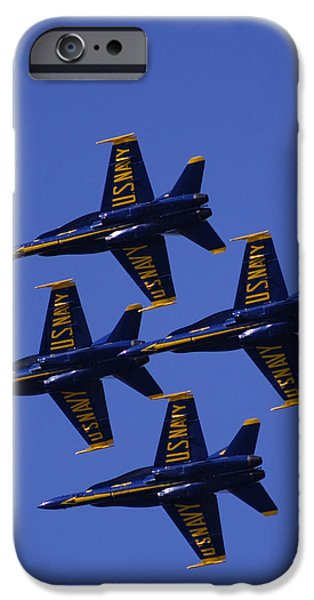 Bill Gallagher Photographs iPhone Cases - Blue Angels iPhone Case by Bill Gallagher