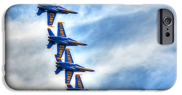 Angel Blues iPhone Cases - Blue Angels iPhone Case by Debbi Granruth