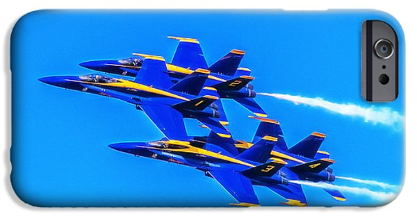 Bill Gallagher iPhone Cases - Blue Angels Glow iPhone Case by Bill Gallagher