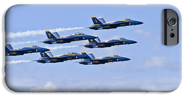 Angel Blues iPhone Cases - Blue Angels III iPhone Case by Greg Reed