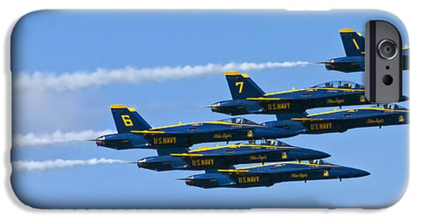 Angel Blues iPhone Cases - Blue Angels IIII iPhone Case by Greg Reed