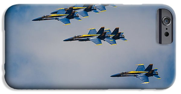 Blue Angel iPhone Cases - Blue Angels iPhone Case by Inge Johnsson