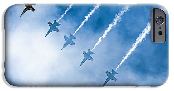 Angel Blues iPhone Cases - Blue Angels iPhone Case by Kate Brown