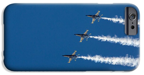 Angel Blues iPhone Cases - Blue Angels on Blue iPhone Case by John Daly