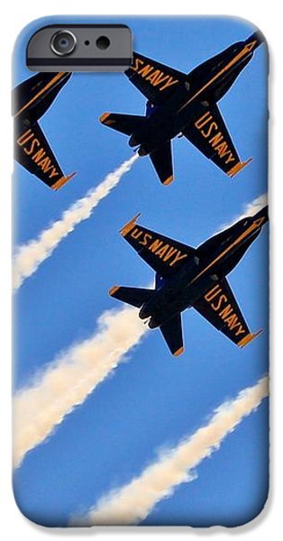 Blue Angels Overhead iPhone Case by Benjamin Yeager