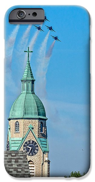 Divine Mercy iPhone Cases - Blue Angels Series Number One iPhone Case by Constance Sanders