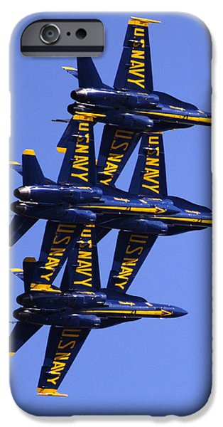 Bill Gallagher Photographs iPhone Cases - Blue Angels II iPhone Case by Bill Gallagher