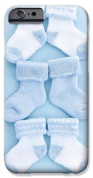 Blue baby socks iPhone Case by Elena Elisseeva
