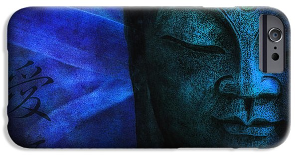 Best Sellers -  - Statue Portrait iPhone Cases - Blue Balance iPhone Case by Joachim G Pinkawa
