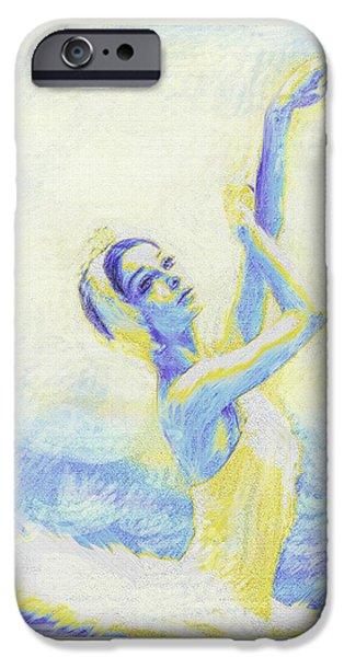 blue ballerina iPhone Case by Jane Schnetlage