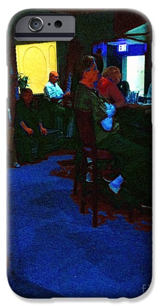 Figures iPhone Cases - Blue Bar on a Monday iPhone Case by RC deWinter