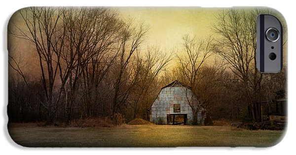 Tennessee Barn iPhone Cases - Blue Barn At Sunrise iPhone Case by Jai Johnson