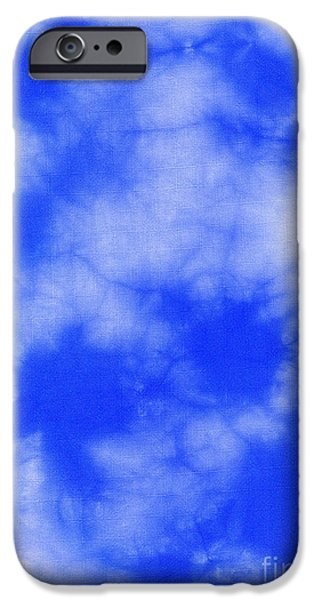 Clouds Tapestries - Textiles iPhone Cases - Blue batik pattern  iPhone Case by Kerstin Ivarsson