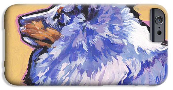Sheltie iPhone Cases - Blue Beauty iPhone Case by Lea