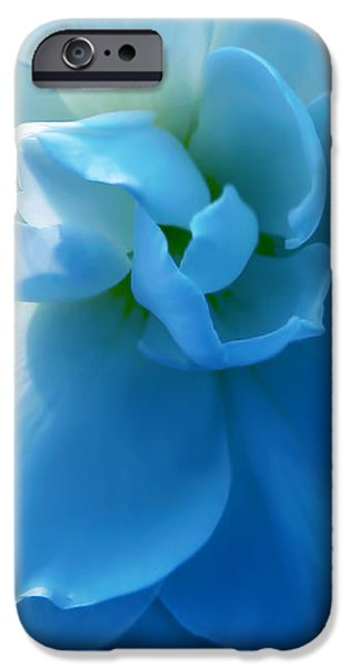 Blue Begonia Flower iPhone Case by Jennie Marie Schell